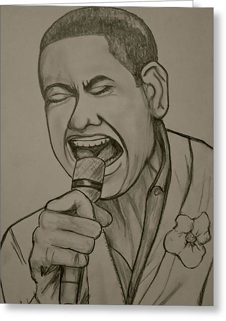Joshua Ledet Greeting Card by Pete Maier