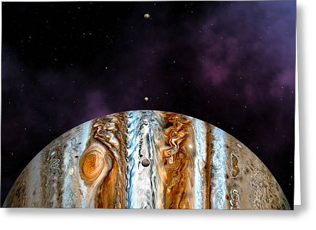 Jovian Giant Greeting Card