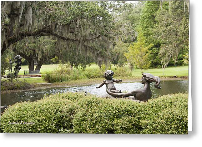 Joy Of Motherhood Willard Hirsch Brookgreen Gardens  South Carolina Greeting Card by Jonathan Whichard
