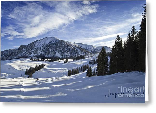 Joyeux Noel Austria Europe Greeting Card by Sabine Jacobs
