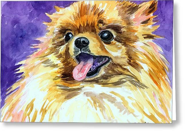 Joyous Soul - Pomeranian Greeting Card by Lyn Cook