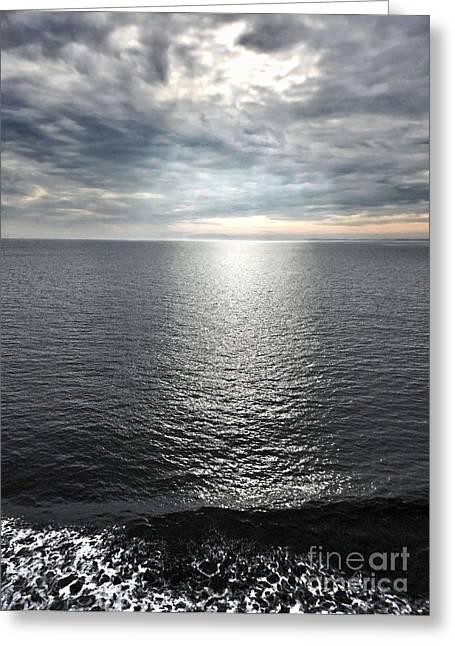 Juan De Fuca Strait Cloud Break Greeting Card