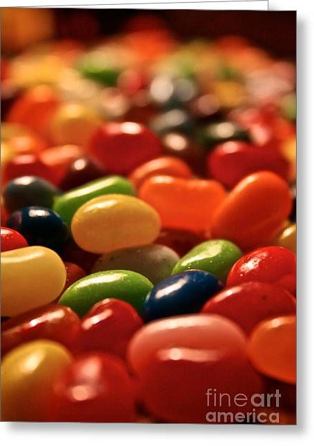Jubilant Jelly Beans Greeting Card by Susan Herber