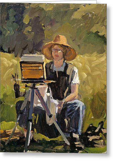 Judith At Work Greeting Card by Mark Lunde