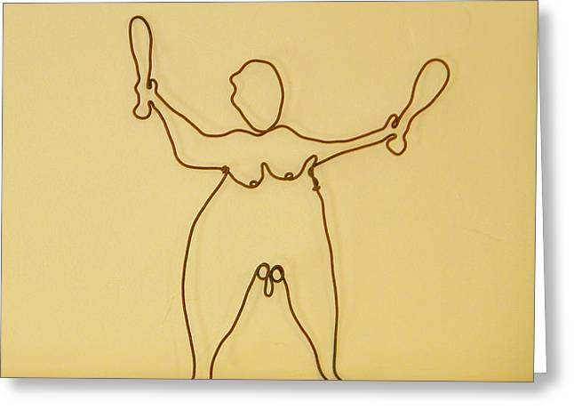 Juggler Greeting Card