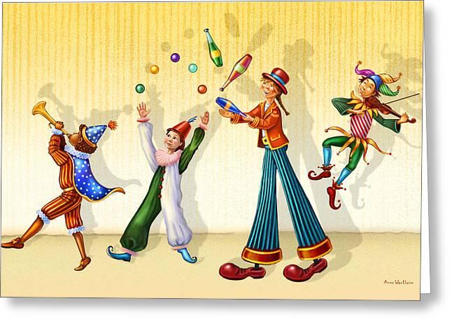 Juggling Company Greeting Card