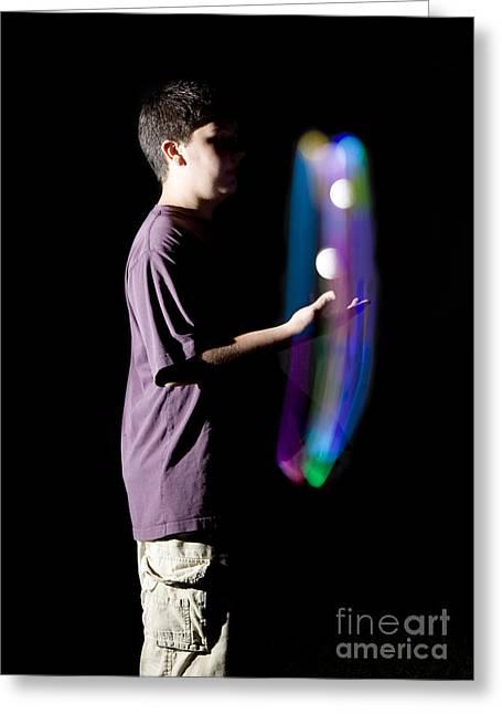 Juggling Light-up Balls Greeting Card