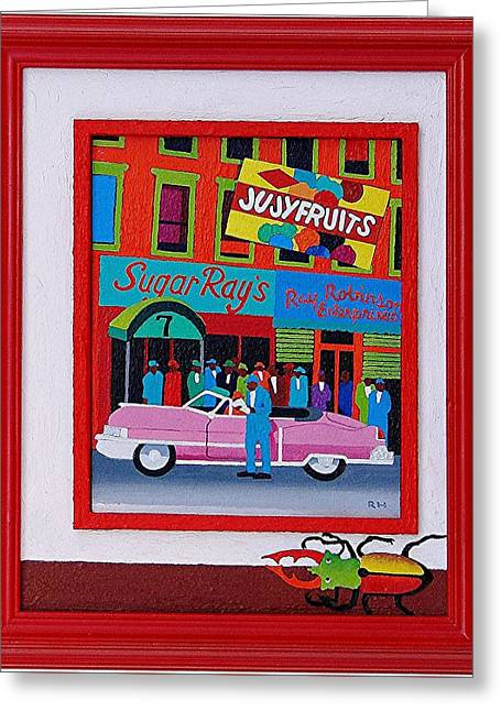 Jujyfruit Greeting Card by Rob M Harper