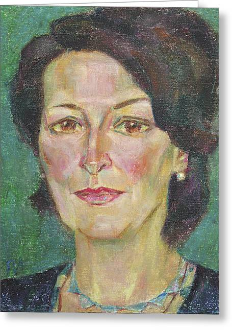 Julia Resnick Greeting Card by Leonid Petrushin