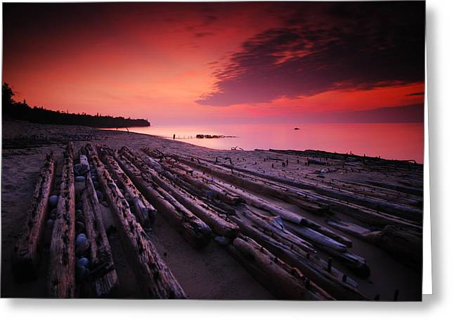 July Fourth Eighteen Eighty Three Shipwreck Greeting Card by Mike Thompson