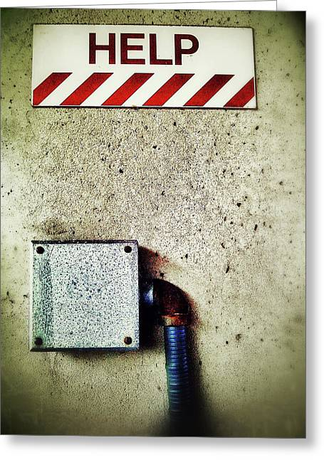 Junction Box Greeting Card by Olivier Calas