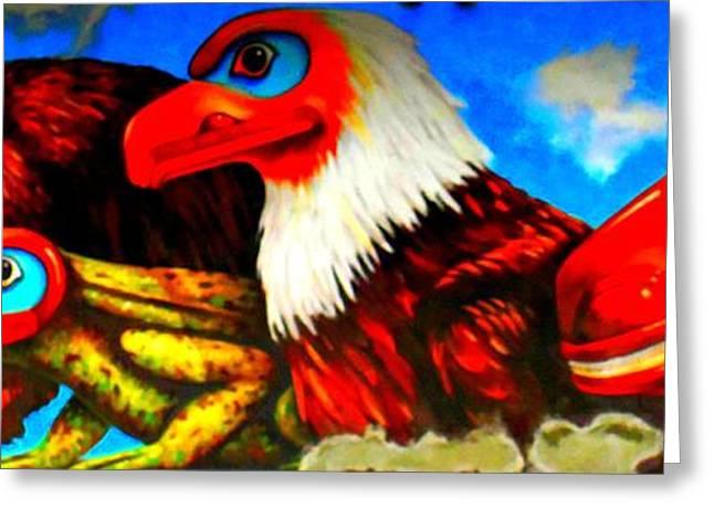 Juneau Mural 2 Greeting Card by Randall Weidner