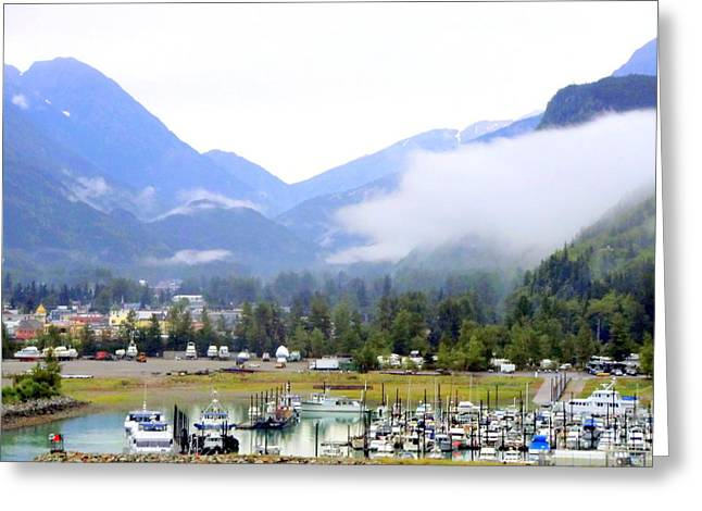 Juneau Seaport Greeting Card by Mindy Newman