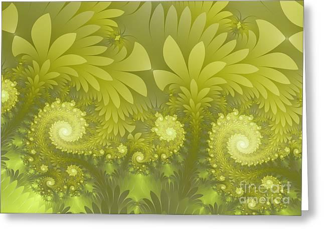 Jungle Green Greeting Card