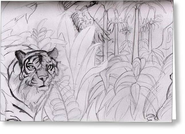 Jungle Lines Greeting Card