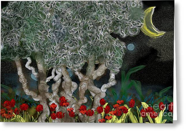 Jungle Night Greeting Card