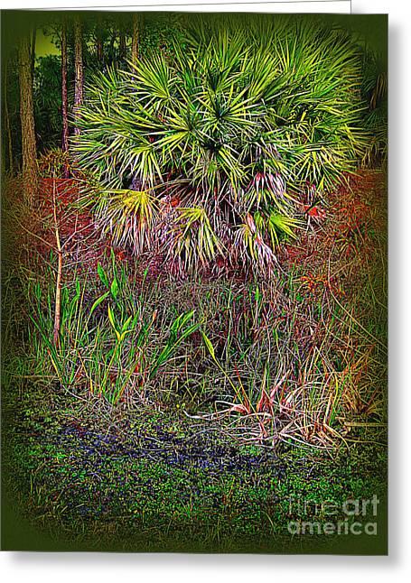 Jungle Palm Greeting Card by Susanne Van Hulst