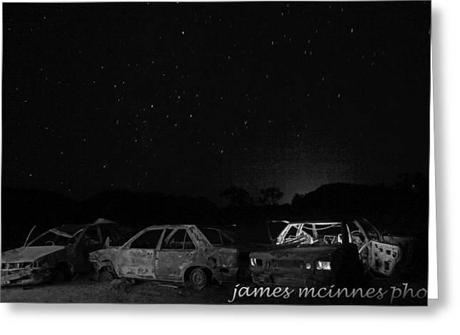 Junk Yard Greeting Card by James Mcinnes