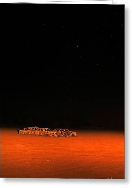 Junk Yard On Mars Greeting Card by James Mcinnes
