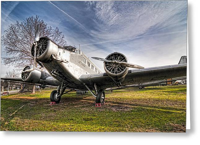 Junkers Ju-52 Greeting Card by Miguel Diaz