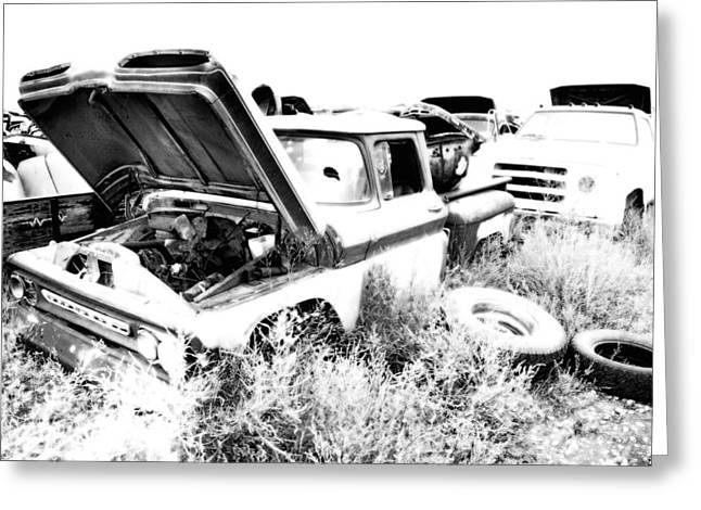 Junkyard Infrared 2 Greeting Card by Matthew Angelo