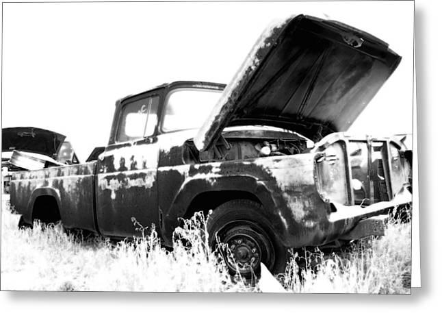 Junkyard Pickup Greeting Card by Matthew Angelo