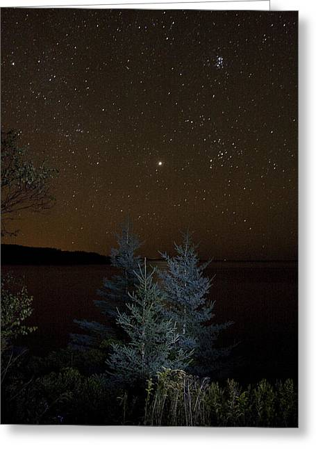 Greeting Card featuring the photograph Jupiter  Over Otter Point 2 by Brent L Ander
