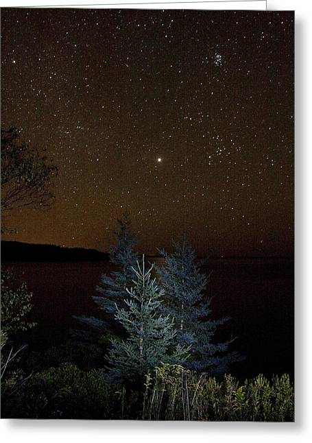 Greeting Card featuring the photograph Jupiter  Over Otter Point 3 by Brent L Ander