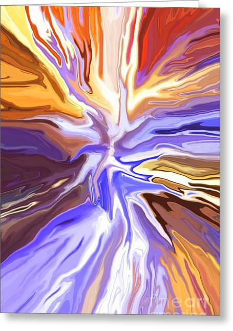 Just Abstract V Greeting Card by Chris Butler