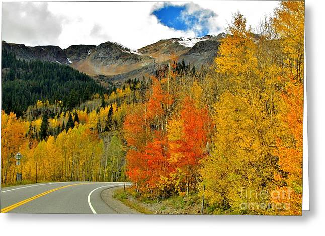 Just Around The Bend Greeting Card by Marilyn Smith