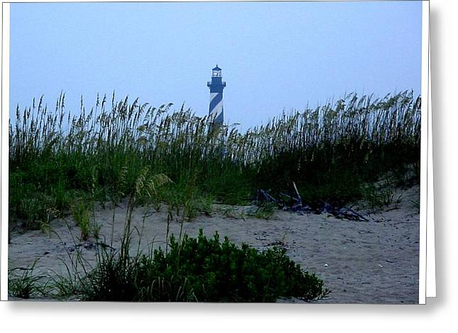 Just Beyond The Sea Oats Greeting Card by Frank Wickham