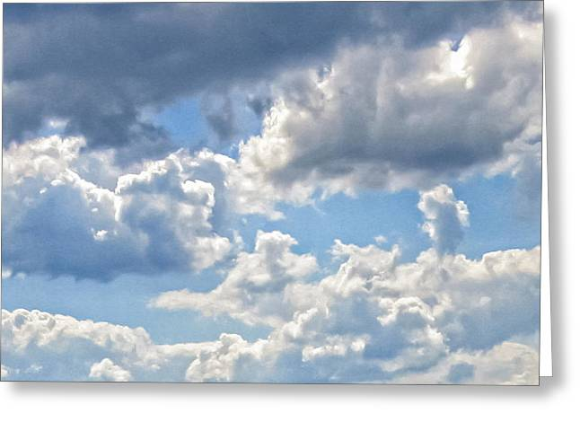 Just Clouds Greeting Card by Laura Corebello