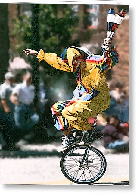 Just Clownin' Greeting Card by Rick Riley