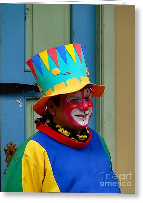 Just Clowning Around Greeting Card by Al Bourassa