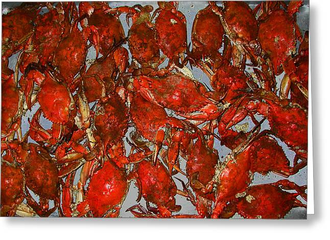 Just Crabs Greeting Card by Jim Ziemer