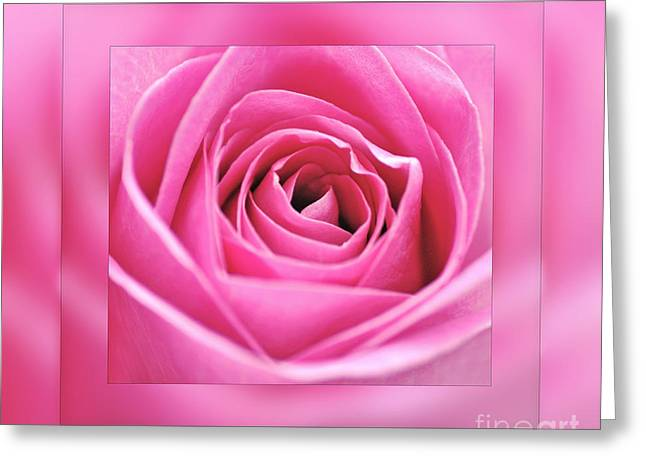 Just Pink Greeting Card by Kaye Menner