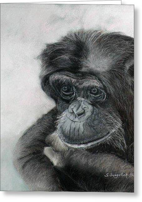 Just Thinking Greeting Card by Sandra Sengstock-Miller