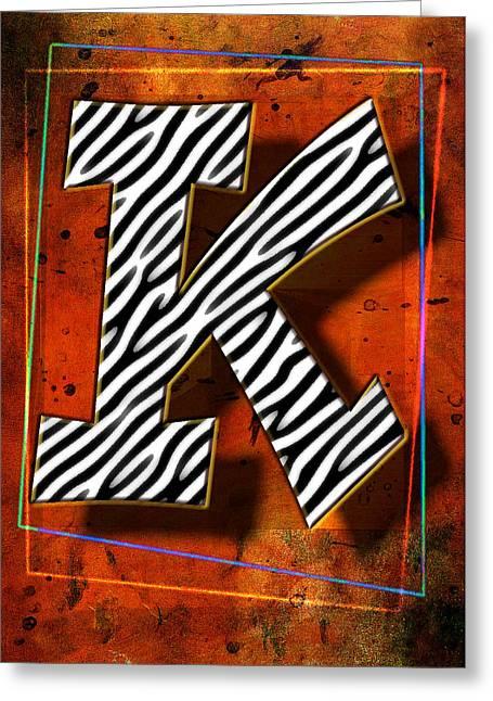 K Greeting Card by Mauro Celotti