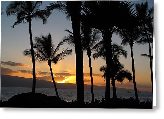 Ka'anapali Sunset Greeting Card
