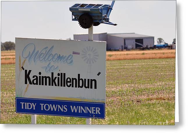 Kaimkillenbun Sign Greeting Card