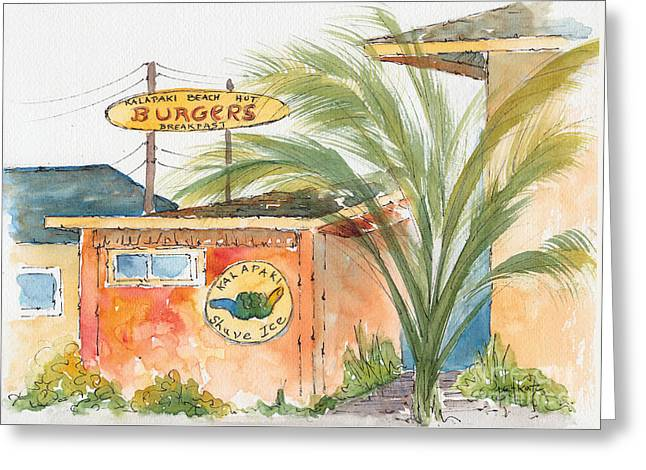 Kalapaki Beach Hut Greeting Card by Pat Katz