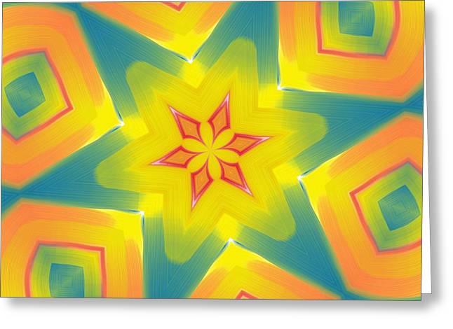 Kaleidoscope Series Number 8 Greeting Card by Alec Drake
