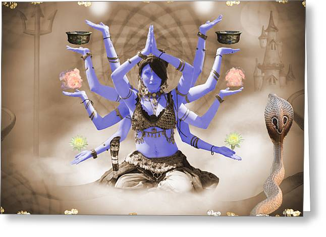 Kali - Elements Of Color Greeting Card by Liezel Rubin