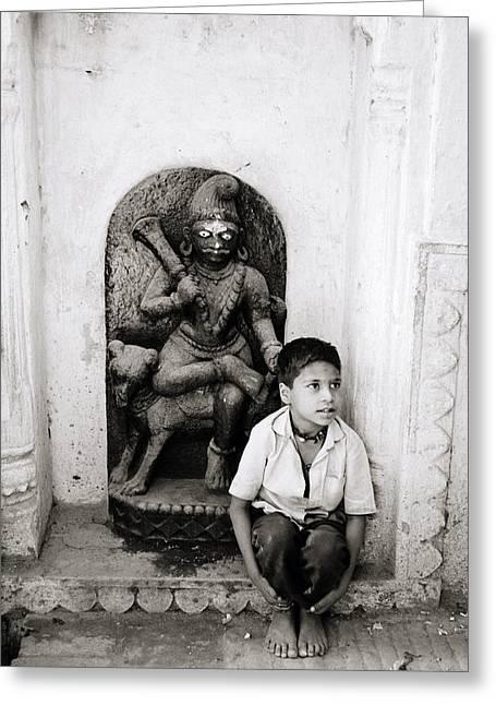 Kali In Benares Greeting Card by Shaun Higson