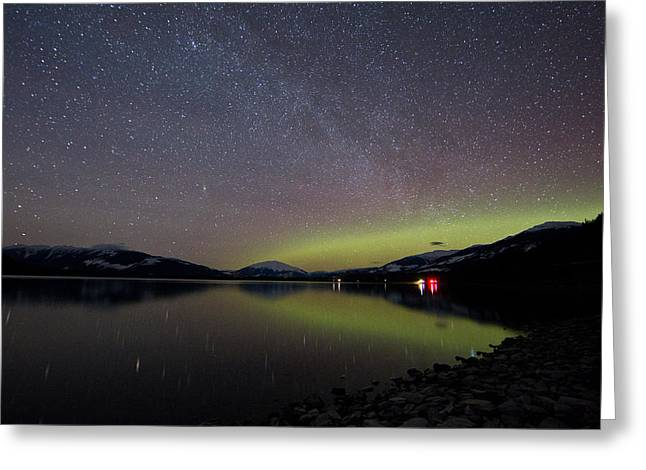 Kalum Lake After Dark Greeting Card by Brandon Broderick