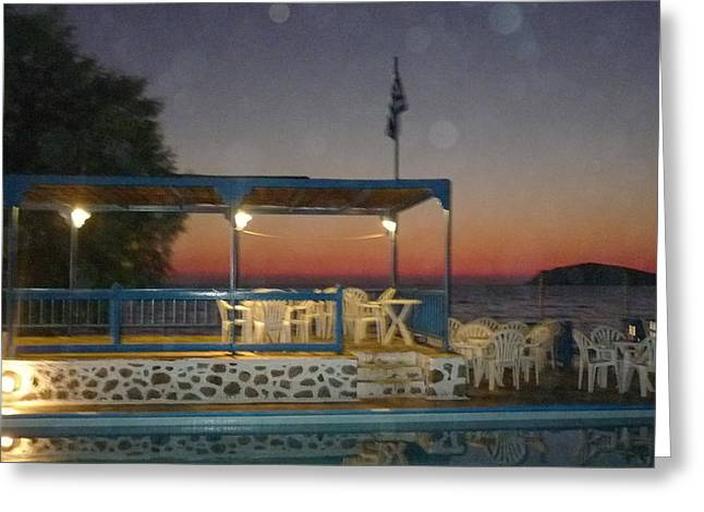 Kalymnos Sunset Greeting Card by Therese Alcorn