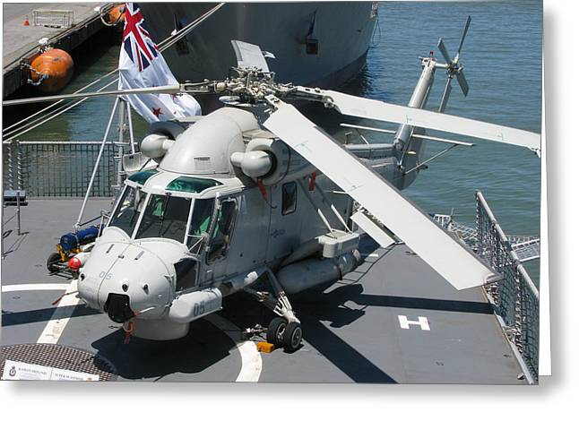 Greeting Card featuring the photograph Kaman Sh-2g Sea Sprite by Samuel Sheats