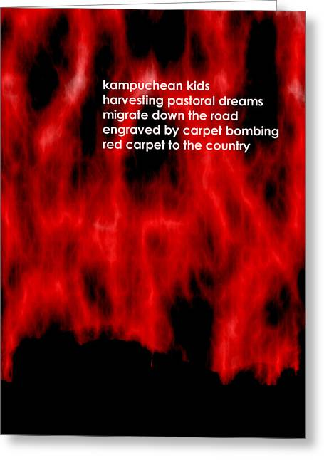 Kampuchean Kids Greeting Card by Steve Mangan