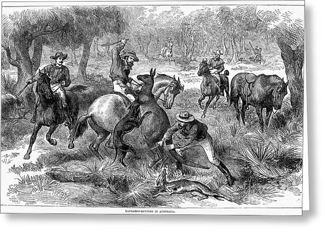 Kangaroo Hunting, 1876 Greeting Card by Granger