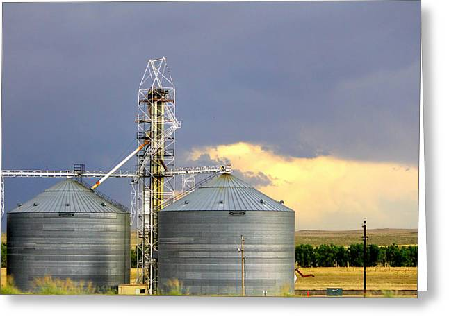 Greeting Card featuring the photograph Kansas Farm by Jeanette C Landstrom